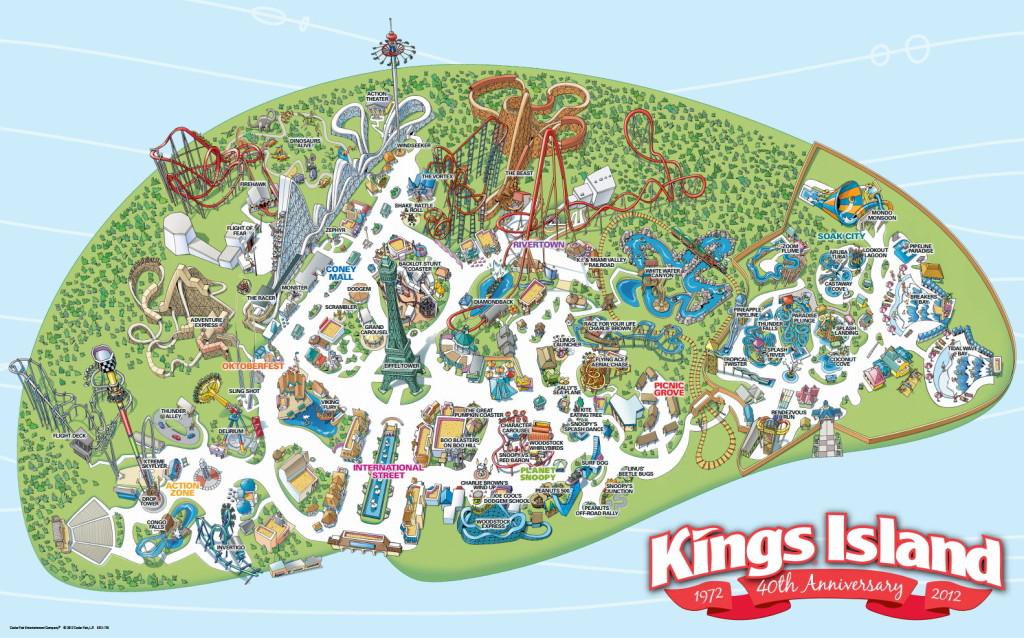 Map Of Kings Island Park