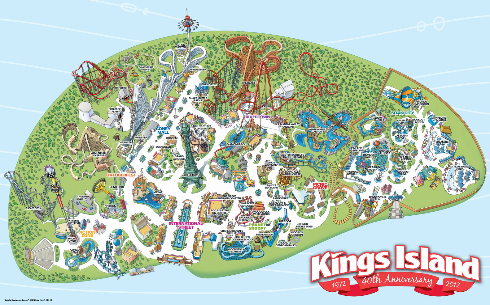 King Island Map Park Map