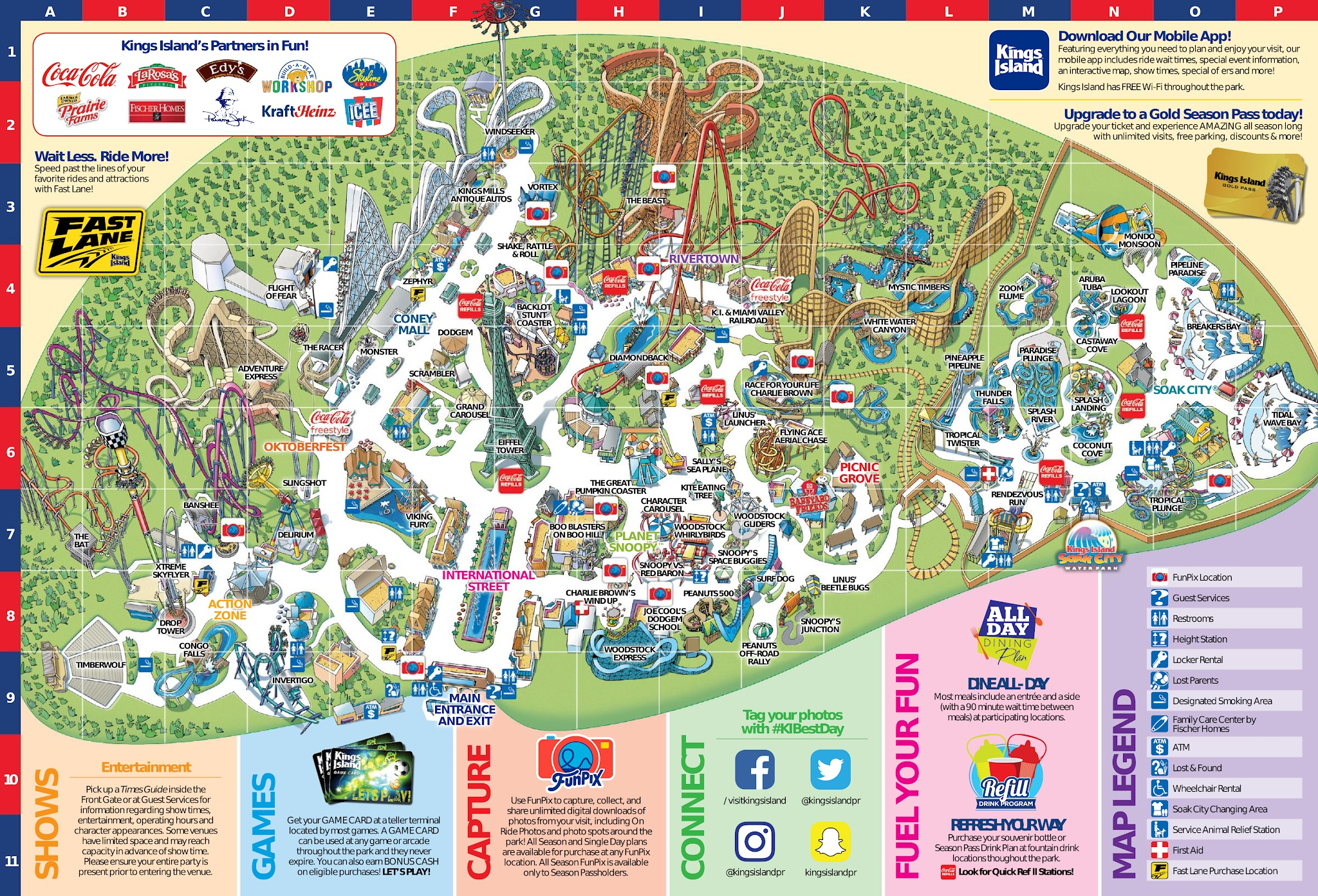 Park Map Kings Island Map on new york city new jersey map, wild river country map, apostle islands map, carowinds map, north island naval base map, islands of adventure map, canada's wonderland map, kiddieland map, paramount park map, disney's blizzard beach map, coney island fun map, westbury new york map, beach waterpark map, six flags map, cincinnati map, cedar point map, oaks amusement park map, michigan adventure map, long island satellite map, disneyland map,